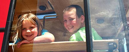 Grandchildren on Trolley