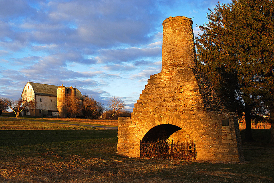 Slag furnace and farm