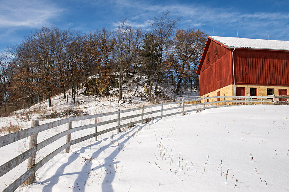 Historic barn, Mineral Point, Wisconsin