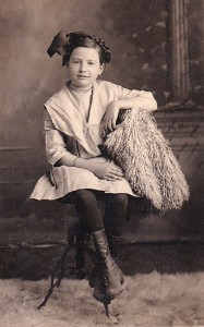 A portrait of Gusta as a child