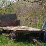 An old farm wagon