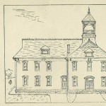 1906 sketch of Linden School.