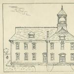 1906 sketch of Linden School.