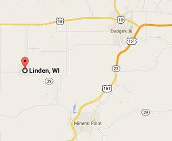 Google map of Linden WI