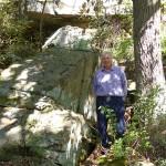 A rock outcropping