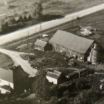 The original farm buildings, mid-twentieth century