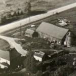 The original farm buildings, mid-twentieth century