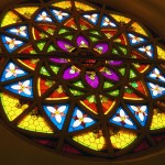 Stained glass window rosette