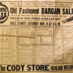 An early twentieth century newspaper ad for the The Cody