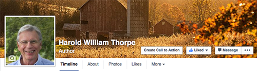 Please follow the Harold William Thorpe Author Page on Facebook