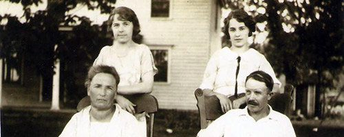 Fitzsimmons family on Avoca farm in the 1920's