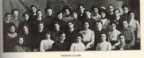 Dodgeville senior class in the 20's