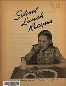 School lunch recipes book cover