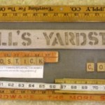 Yardstick wall hanging