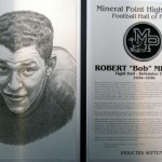 Bob Mitchell's Mineral Point Football Hall of Fame certificate