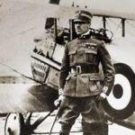 World War I pilot and plane