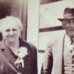 Old photograph of an older Irish couple