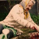 The real Catherine - tending her garden