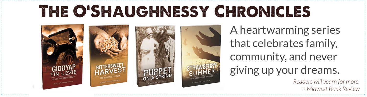 The 4 book covers of the O'Shaughnessy Series
